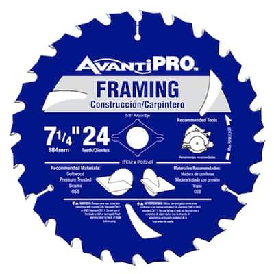 7-1/4 in. x 24-Tooth Framing Circular Saw Blade