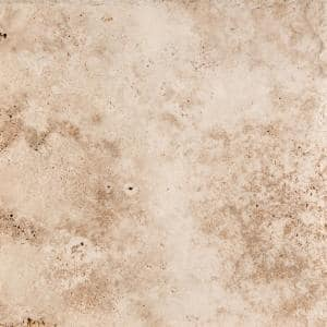 Trav Chiseled Vanilla Coffee 15.98 in. x 15.98 in. Travertine Floor and Wall Tile