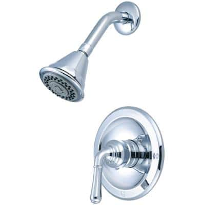 Accent 1-Handle Wall Mount Shower Faucet Trim Kit in Polished Chrome 4 Function Showerhead (Valve not Included)