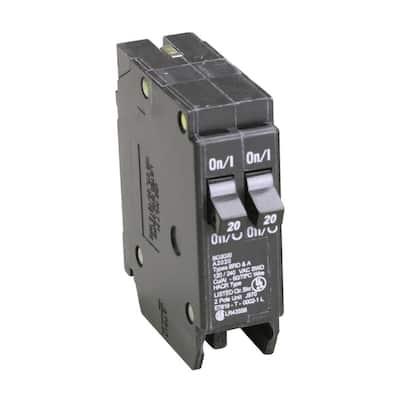 BD 2-20 Amp Single Pole Tandem CTL Circuit Breaker