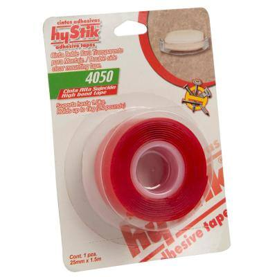 4050 1 in. x 1.67 yds. Clear Mounting Tape with Red Liner (1-Roll)