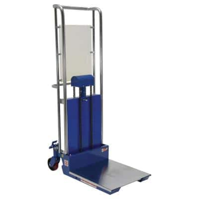 70 in. x 36 in. x 23 in. Foot Pump Steel Hefti-Lift