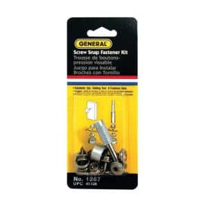 3/8 in. Screw Snap Fastener Kit