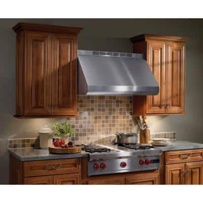 E60000 30 in. Convertible Wall Mount Range Hood with Light in Stainless Steel