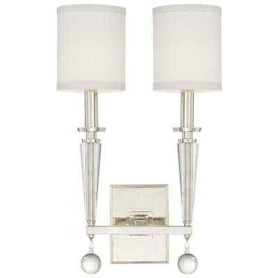 Paxton 2-Light Polished Nickel Sconce