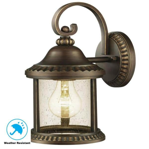 Home Decorators Collection Cambridge Outdoor Essex Bronze Wall Lantern Sconce Gem1689am 4 The Home Depot