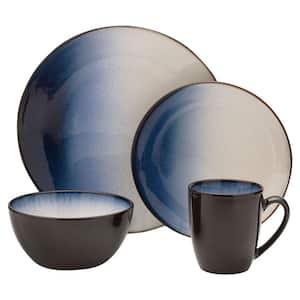 Asher 16-Piece Modern Blue Stoneware Dinnerware Set (Set for 4)