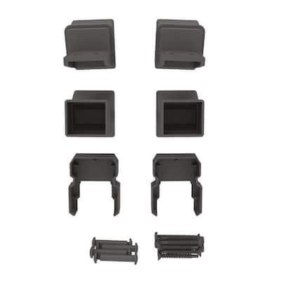 VersaRail Classic Matte Bronze Aluminum Stair Bracket Kit (4-Piece)