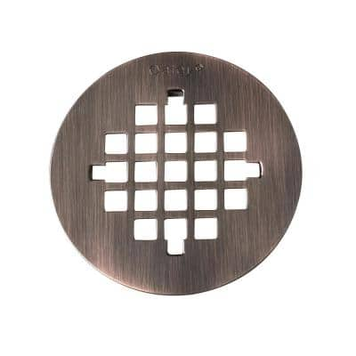 4-1/4 in. Round Universal Snap-In Shower Strainer in Oil Rubbed Bronze