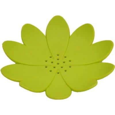 Bath Soap Dish Cup Water Lily Solid Green