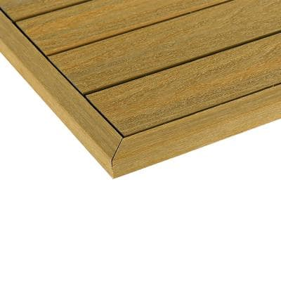 1/6 ft. x 1 ft. Quick Deck Composite Deck Tile Outside Corner Trim in English Oak (2-Pieces/Box)