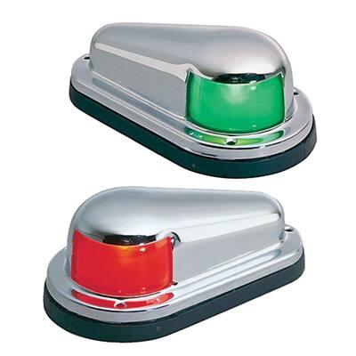 Chrome-Plated Horizontal-Mount Side Lights