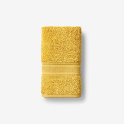 Company Cotton Deep Yellow Solid Turkish Cotton Hand Towel