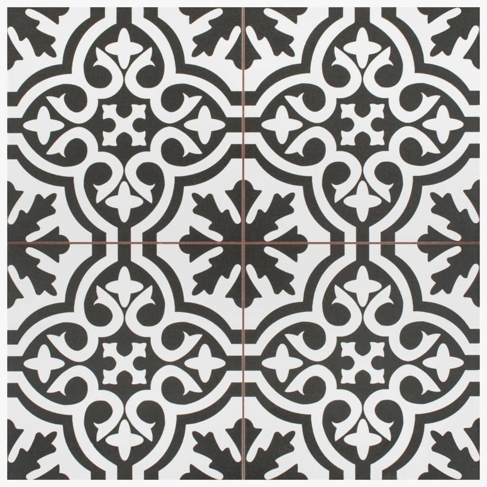 SAMPLES TILE DEALS Berkeley Charcoal Black Victorian Wall /& Floor Tiles