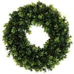 12 in. Round Artificial Boxwood Wreath