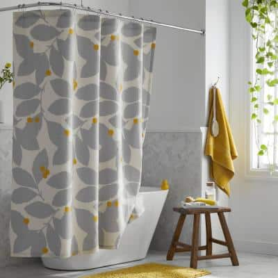 Legends Hotel Floral Relaxed Linen 72 in. Multicolored Shower Curtain