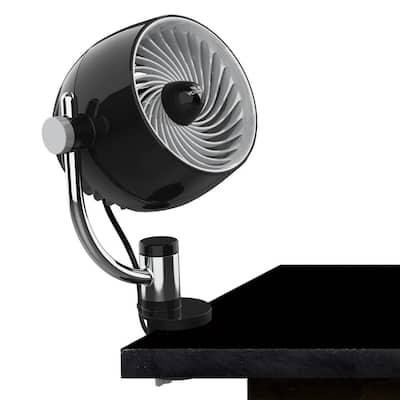Pivot3C 5.8 in. Desktop Fan Air Circulator with Multi-Surface Mount, Black