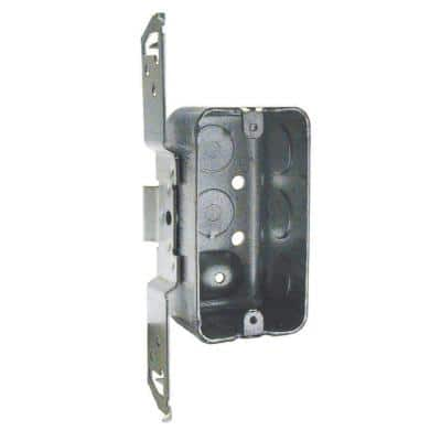4 in. x 2 in. x 1-7/8 in. Drawn Handy Box, Bracket and Raised Ground