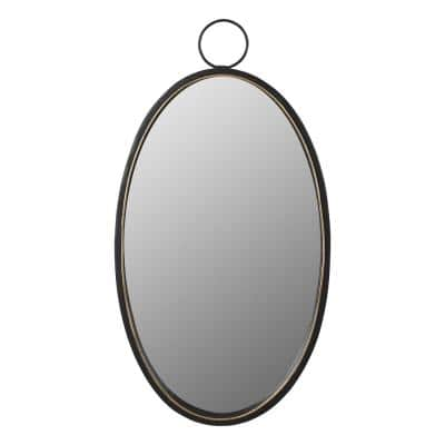 Oval Black Mirrors Home Decor The Home Depot