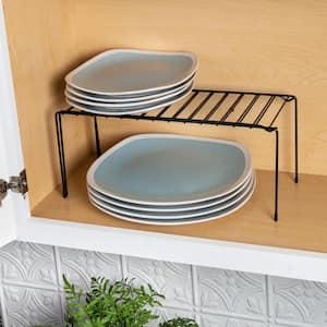 Black Coated Steel Expandable Pantry Shelf