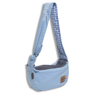 Blue Toga-Bark Over-The-Shoulder Hands-Free Pet Carrier