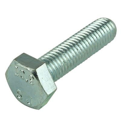 M8-1.25 x 30 mm Class 10.9 Zinc Plated Hex Bolt (2-Pack)