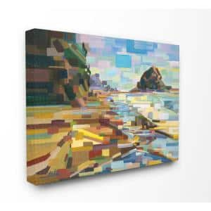 16 in. x 20 in. ''Geometric Downeast Rocky Coast'' by Third and Wall Printed Canvas Wall Art