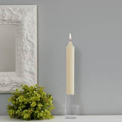 Grecian Collenette 9 in. Ivory Unscented Taper Candle (Set of 4)