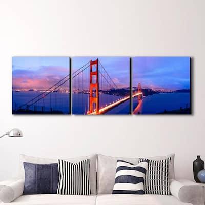 "16 in. x 48 in. ""Golden Gate Bridge"" Printed Wall Art"