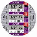 1/2 in. x 25 ft. Alflex RWA Metallic Aluminum Flexible Conduit