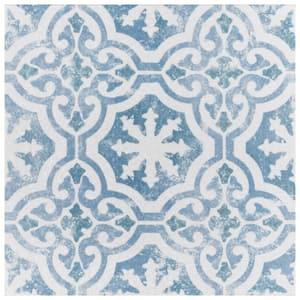 Klinker Alcazar Magnolia Encaustic 12-3/4 in. x 12-3/4 in. Ceramic Floor and Wall Quarry Tile (1.13 sq. ft./Each)