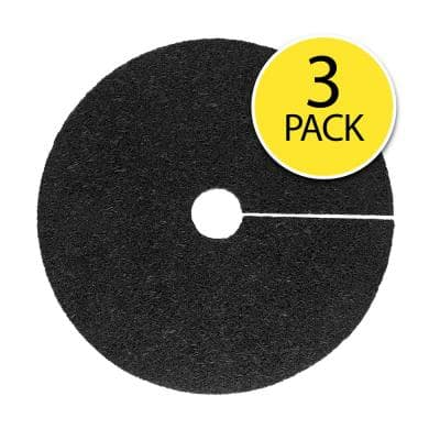 0.5 in. x 24 in. Black Recycled Rubber Tree Ring (3-Pack)