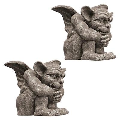 Emmett the Gargoyle Small Sculpture Set (2-Piece)