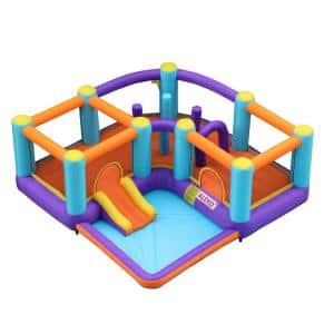 Extra-Large Inflatable Playtime Bouncy Bounce House with Splash Pool and Slide