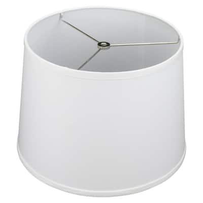 12 in. Top Diameter x 14 in. Bottom Diameter x 10 in. Linen White Slant Empire Lamp Shade