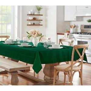 60 in. W x 144 in. L Holly Green Elrene Elegance Plaid Damask Fabric Tablecloth