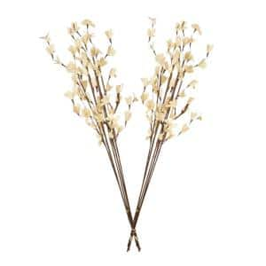 32 in. Natural Palm Lilies Dried Natural (2-Pack)