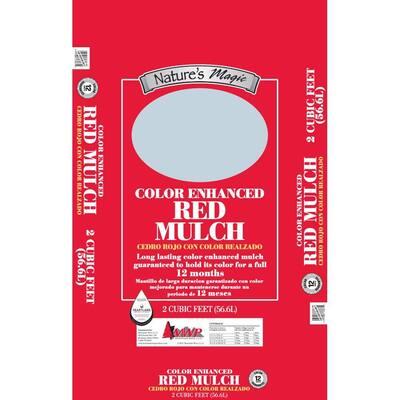 2 cu. ft. Red Colored Mulch