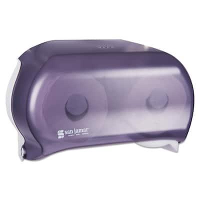 VersaTwin Transparent Black Pearl Toilet Paper Dispenser