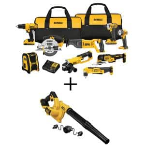 20-Volt MAX Cordless Combo Kit (9-Tool) with (2) 20-Volt 2.0Ah Batteries & Cordless Blower