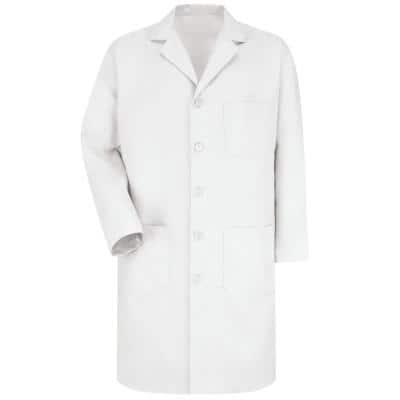 Men's Size 46 (Tall) White Lab Coat