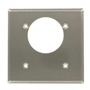 Stainless Steel 2-Gang Single Outlet Wall Plate (1-Pack)
