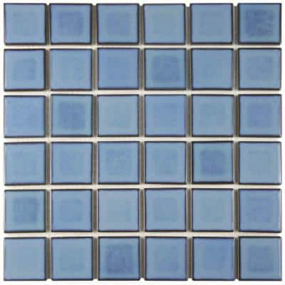Merola Tile Squire Quad Spring 12 In X 12 In Porcelain Mosaic Tile 11 06 Sq Ft Case Fkosq401 The Home Depot