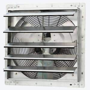 1736 CFM Silver Electric Powered Gable Mount Shutter Fan/Vent
