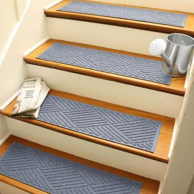 Aqua Shield Diamonds 8.5 in. x 30 in. Stair Treads (Set of 4) Bluestone