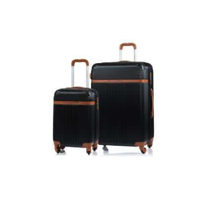 CHAMPS Vintage 29 in., 20 in. Black Hardside Luggage Set with Spinner Wheels (2-Piece)