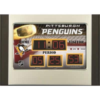 Pittsburgh Penguins NHL Multi-Color Scoreboard Alarm Clock