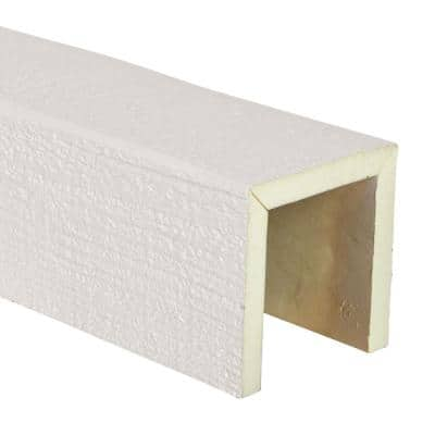 SAMPLE - 6 in. x 12 in. x 6 in. Urethane 3-Sided (U-Beam) Rough Sawn Faux Wood Ceiling Beam , Unfinished Finish