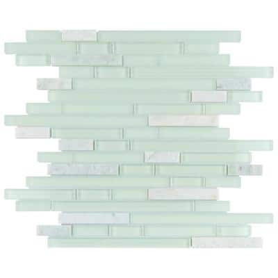 Tessera Piano Ming 11-3/4 in. x 11-7/8 in. Glass and Stone Mosaic (9.9 sq. ft./Case)