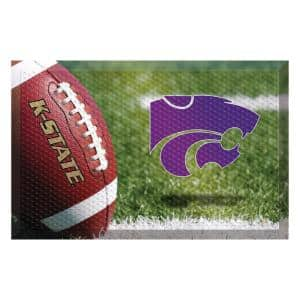 Kansas State University Football Heavy Duty Rubber Outdoor Scraprer Door Mat